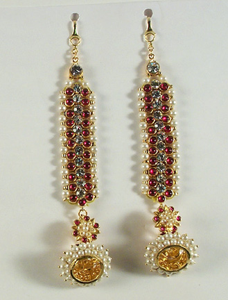 Imitation Temple Sets - Mattle with earrings